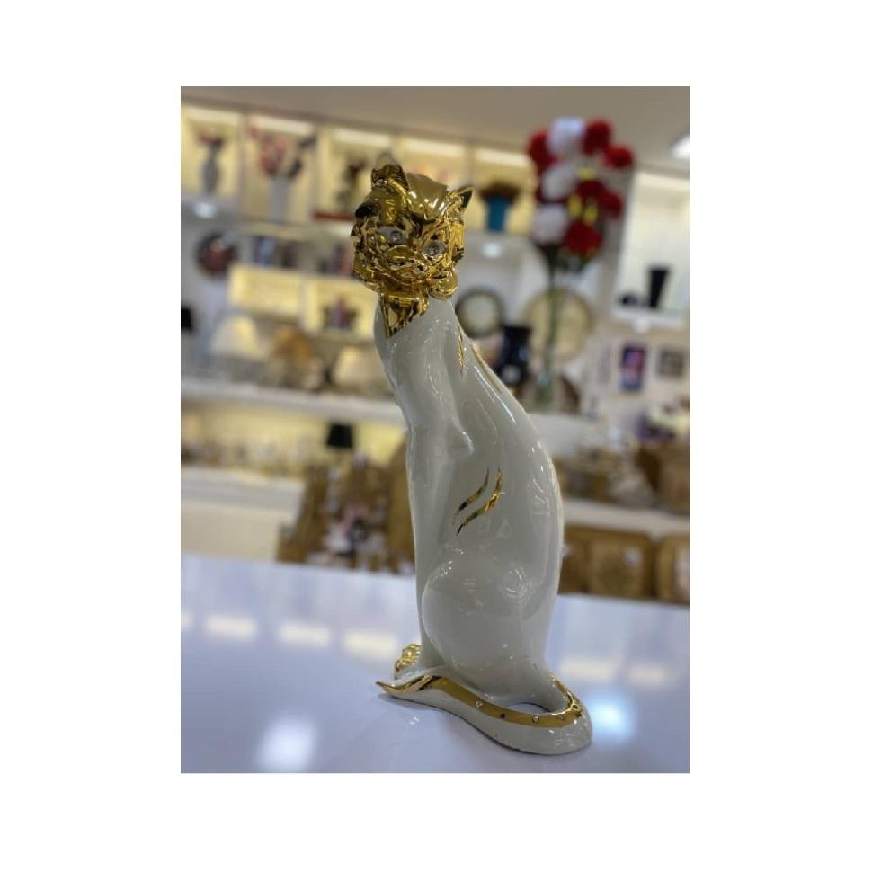 تندیس گربه آب طلا