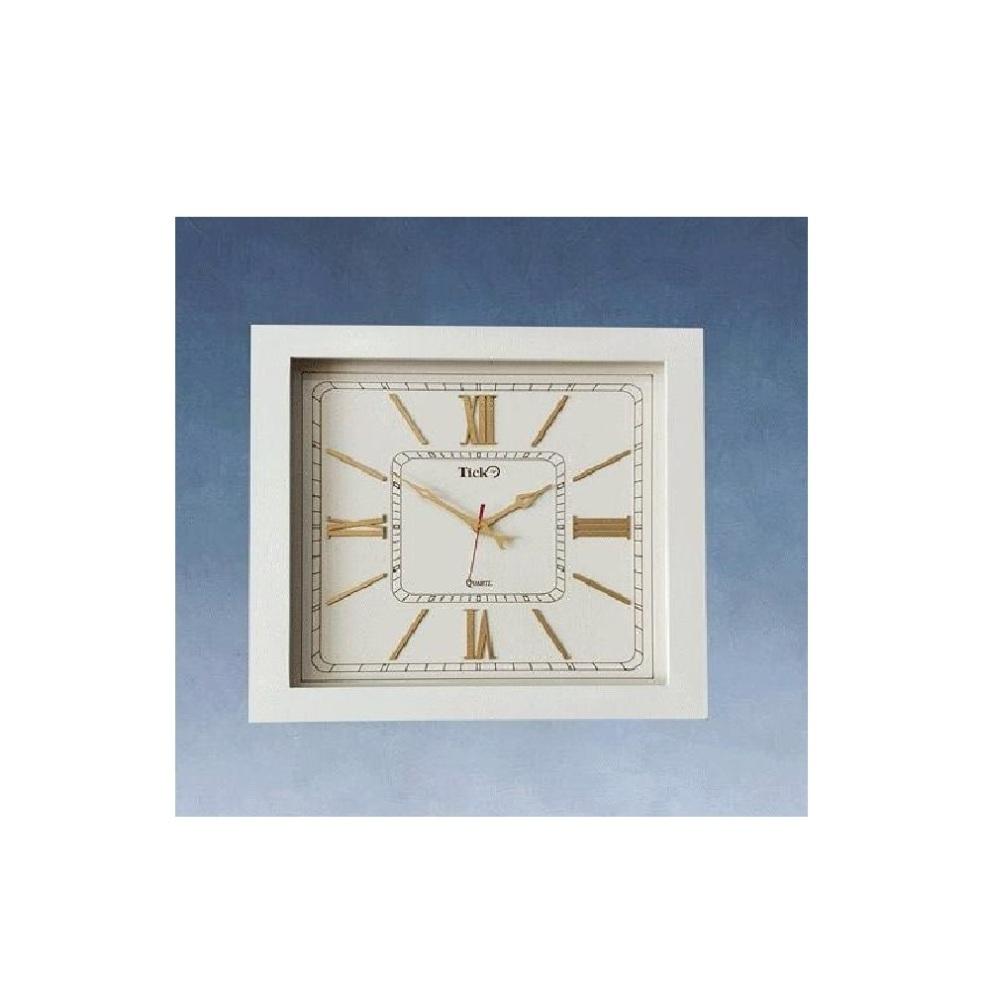 ساعت تیک مربع سفید