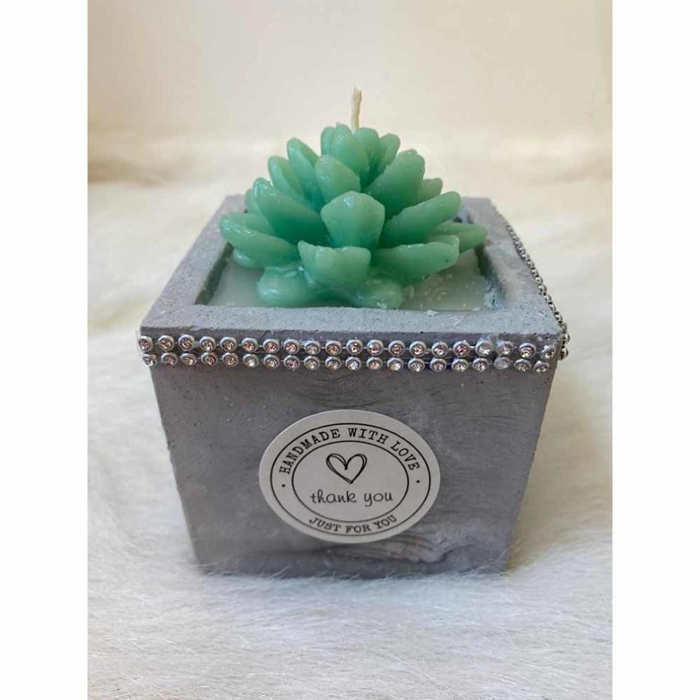 شمع مربعی کوچک مدل 2