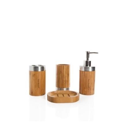 ست 4 پارچه جاصابونی و مسواک بامبوم bambum B2656