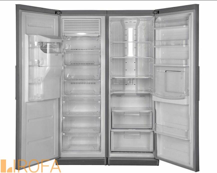 یخچال فریزر دوقلو هیمالیا مدل بتا نقره ای نوفراست هوم بار یخساز