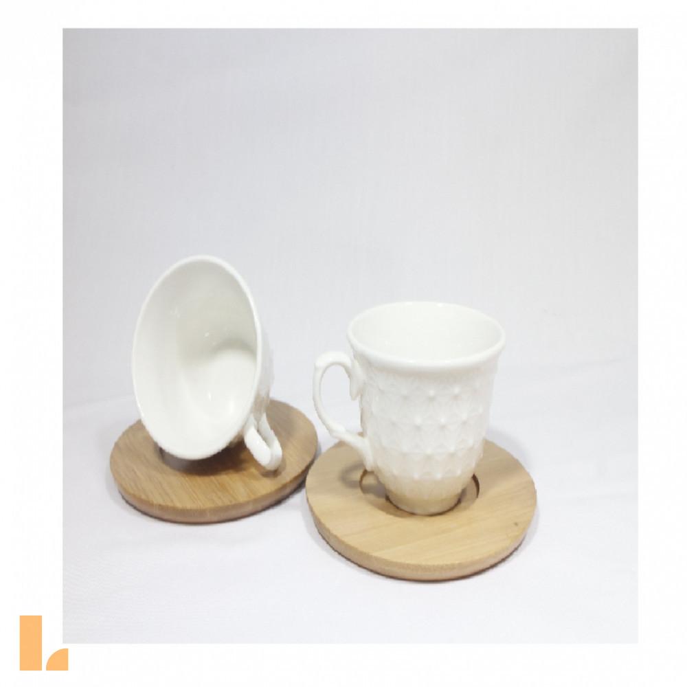 فنجان قهوه خوری زیر چوبی طرح برجسته23