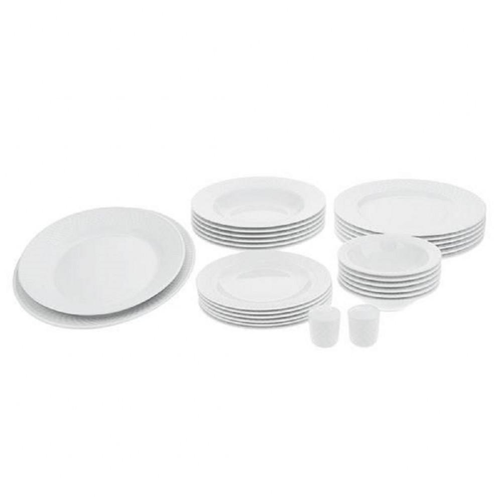 سرویس غذاخوری 28 پارچه چینی زرین سری رادیانس مدل سفید درجه عالی