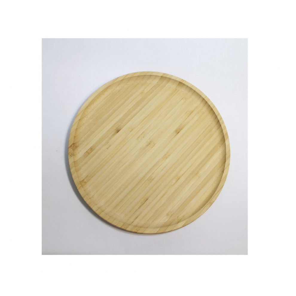سینی گرد بزرگ چوب بامبو 3-1632
