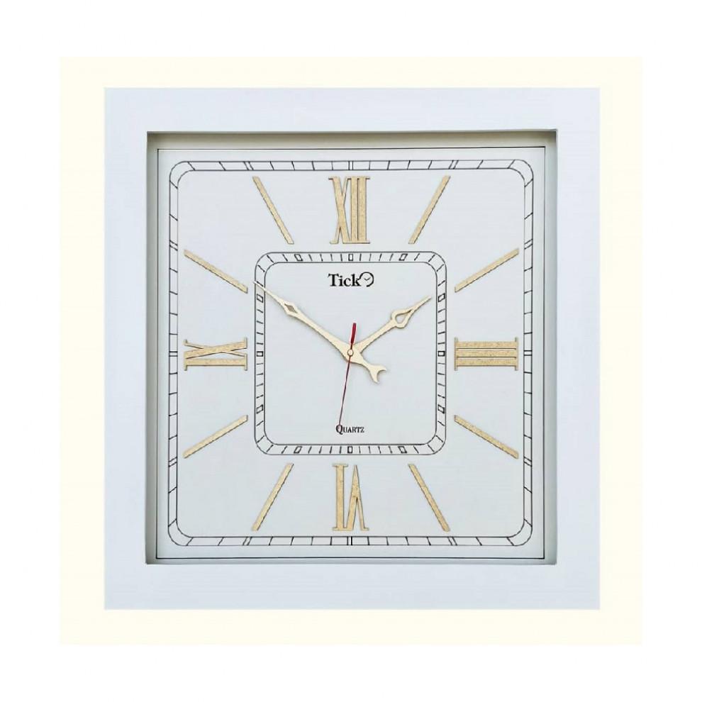 ساعت تیک مربع سفید SW946