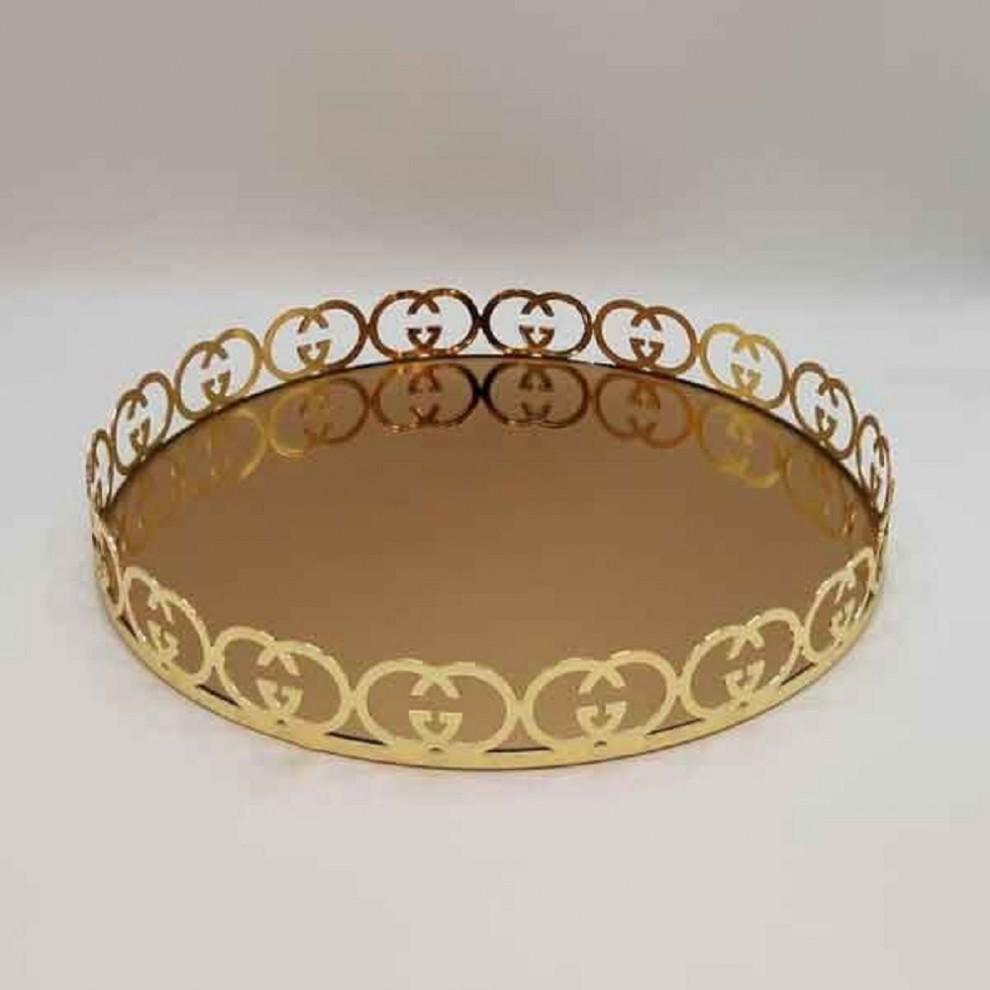 سینی آینهای گوچی کوچک طلایی