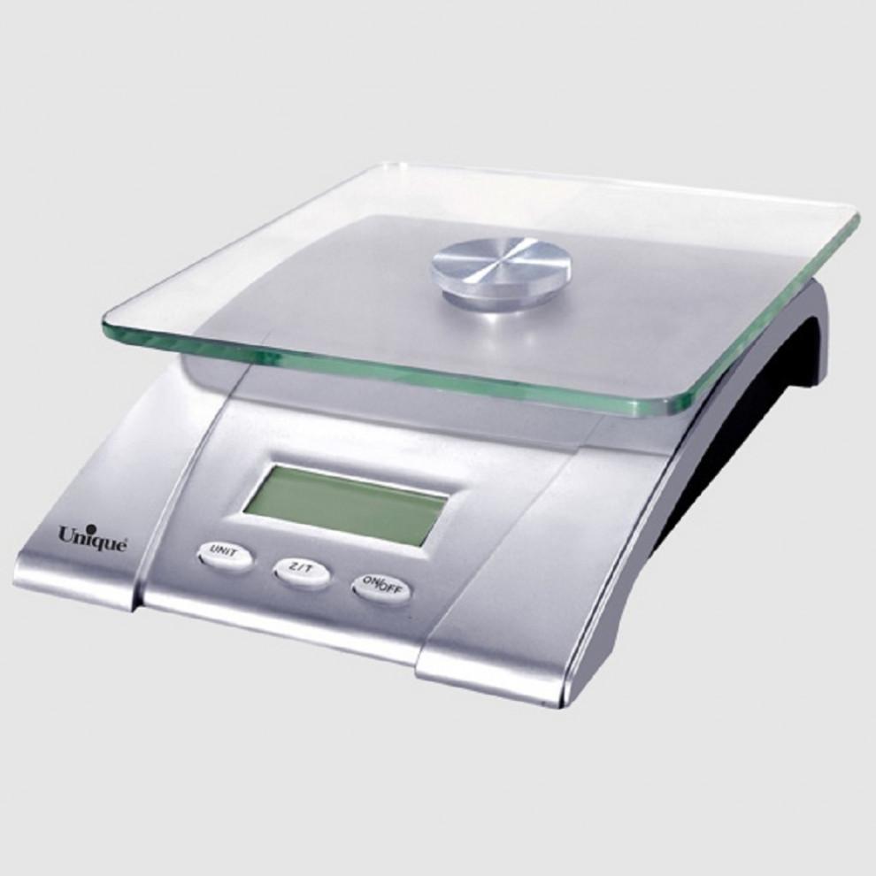 ترازوی آشپزخانه دیجیتال شیشهای یونیک