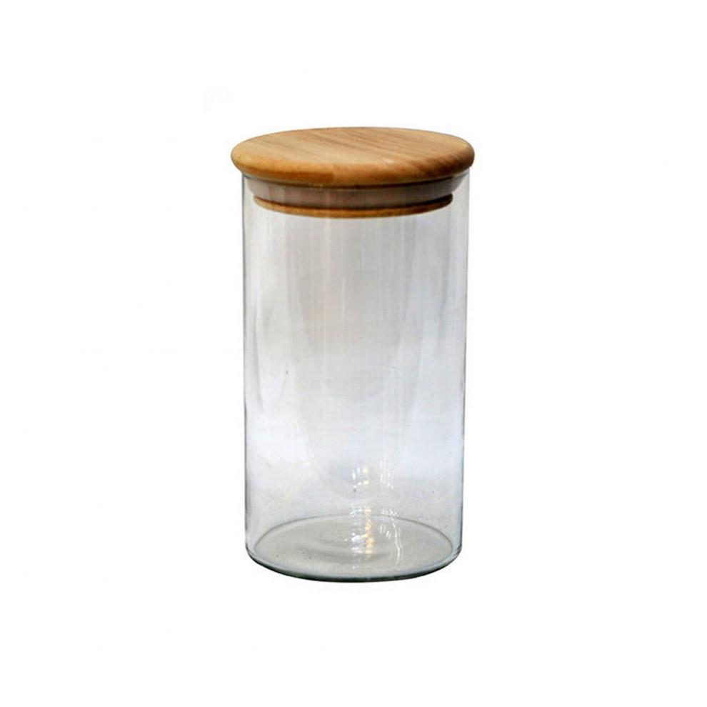 بانکه شیشهای درب بامبو قطر ۱۰ ارتفاع ۲۰ سانتیمتر